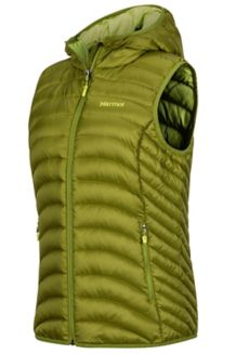 Wm's Bronco Hooded Vest, Cilantro, medium