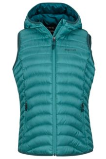 Wm's Bronco Hooded Vest, Patina Green, medium