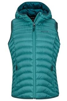 Women's Bronco Hooded Vest, Patina Green, medium