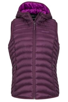 Women's Bronco Hooded Vest, Dark Purple, medium