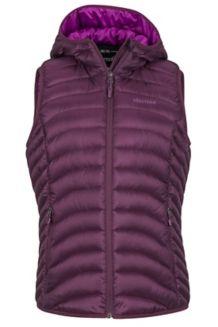 Wm's Bronco Hooded Vest, Dark Purple, medium