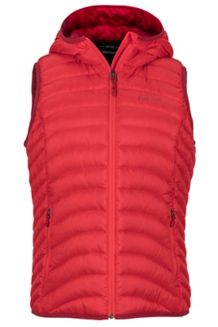 Women's Bronco Hooded Vest, Scarlet Red, medium