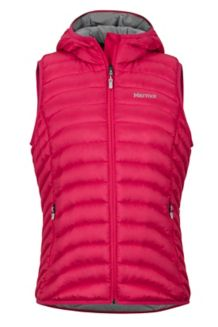 Women's Bronco Hooded Vest, Disco Pink, medium