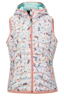 Women's Bronco Hooded Vest, Multi Confetti, medium