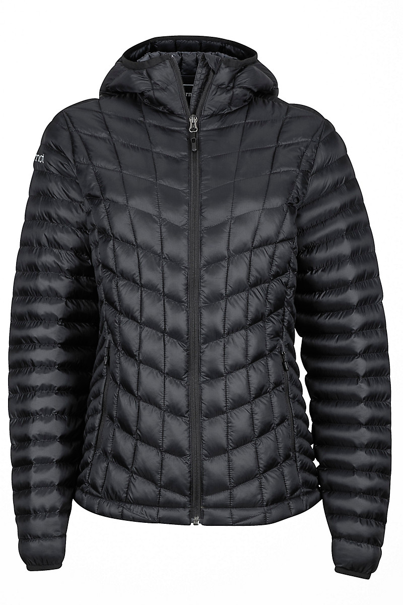 Wm's Marmot Featherless Hoody, Black, large