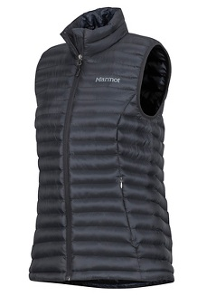 Women's Solus Featherless Vest, Black, medium