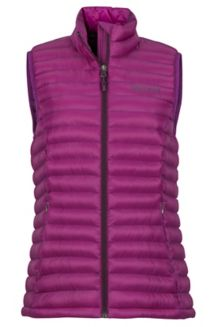 Women's Solus Featherless Vest, Grape, medium