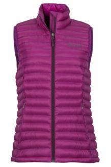 Women's Solus Featherless Vest, Grape, medium