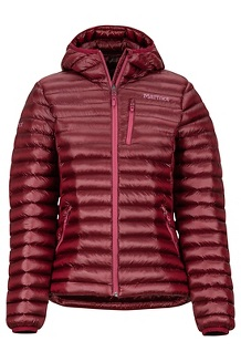 Women's Avant Featherless Hoody, Claret, medium