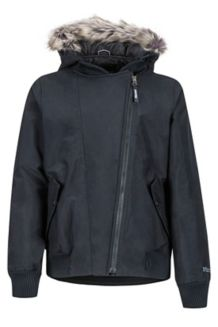 Girl's Stonehaven Jacket, Black, medium