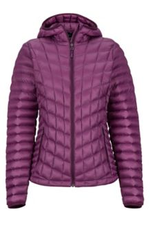 Women's Featherless Hoody, Dark Purple, medium