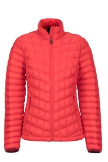 Women's Featherless Jacket, Scarlet Red, medium