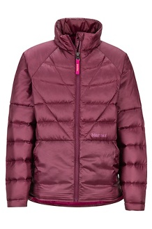 Girls' Hyperlight Down Jacket, Fig, medium