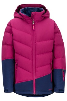 Girls' Slingshot Jacket, Purple Berry/Arctic Navy, medium