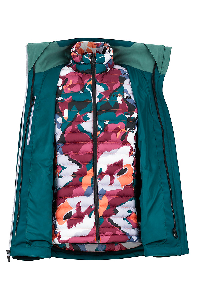 Marmot Featherless 3-1 Component Waterproof Jacket with Removable Inner Liner Women