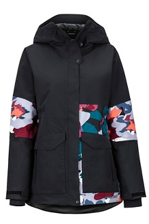 Women's Wilder Jacket, Black/Multi Pop Camo, medium