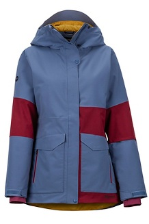 Women's Wilder Jacket, Storm/Claret, medium