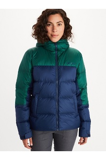 Women's Guides Down Hoody, Arctic Navy/Botanical Garden, medium