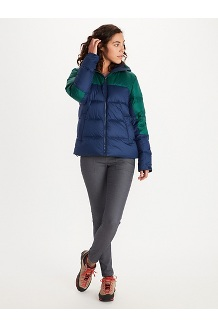 Women's Guides Down Hoody, Wild Rose/Arctic Navy, medium