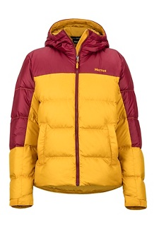 Women's Guides Down Hoody, Yellow Gold/Claret, medium