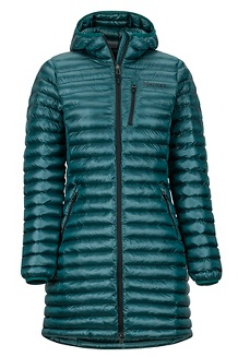 Women's Long Avant Featherless Hoody, Deep Teal, medium