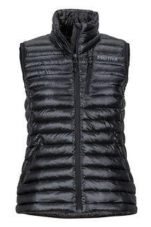 Women's Avant Featherless Vest, Black, medium