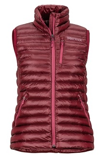 Women's Avant Featherless Vest, Claret, medium