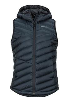 Women's Highlander Hoody Vest, Black, medium