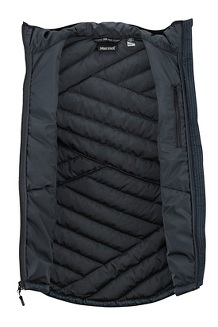 Women's Highlander Hoody Vest, Black, medium