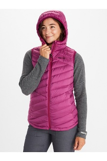 Women's Highlander Hoody Vest, Wild Rose, medium