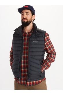 Men's Highlander Down Vest, Black, medium
