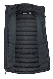 Men's Highlander Down Vest, Black, medium