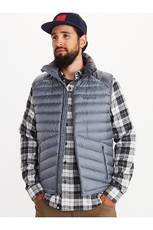 Men's Highlander Down Vest, Steel Onyx, medium