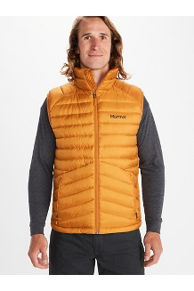 Men's Highlander Down Vest, Bronze, medium