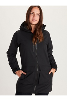 Women's Commuter Parka, Black, medium