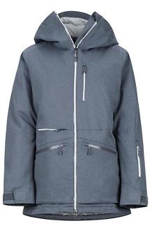 Women's Schussing Featherless Jacket, Steel Onyx, medium