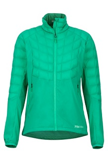 Women's Featherless Hybrid Jacket, Turf Green, medium