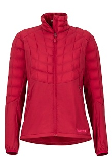 Women's Featherless Hybrid Jacket, Sienna Red, medium