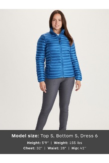 Women's Solus Featherless Jacket, Classic Blue, medium