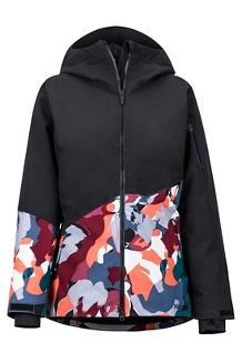 Women's Pace Jacket, Black/Multi Pop Camo, medium