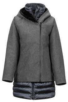 Women's Victoria Jacket, Grey Heather/Steel Onyx, medium