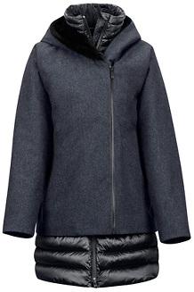 Women's Victoria Jacket, Black Heather/Black, medium
