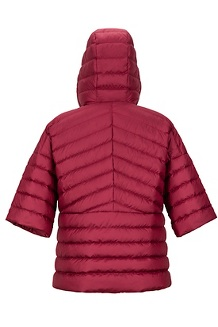 Women's Ithaca Poncho, Claret, medium