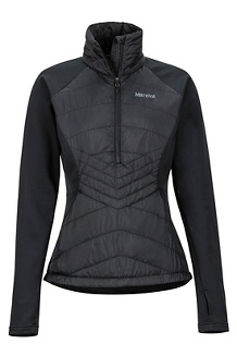 Women's Variant Hybrid 1/2-Zip Jacket, Black, medium