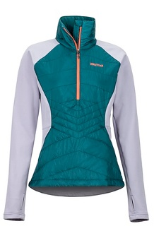 Women's Variant Hybrid 1/2-Zip Jacket, Deep Teal/Lavender Aura, medium