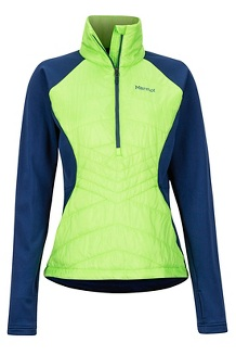 Women's Variant Hybrid 1/2-Zip Jacket, Vibrant Green/Arctic Navy, medium