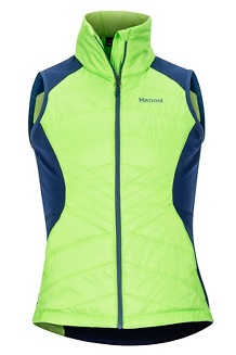 Women's Variant Hybrid Vest, Vibrant Green/Arctic Navy, medium