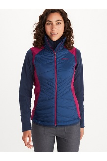 Women's Variant Hybrid Vest, Wild Rose/Arctic Navy, medium