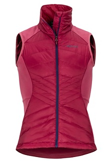 Women's Variant Hybrid Vest, Claret/Dry Rose, medium