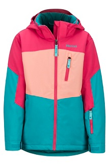 Girls' Elise Jacket, Blue Tile/Disco Pink, medium